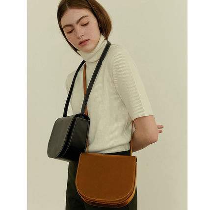Casual Style Faux Fur 2WAY Plain Office Style Crossbody