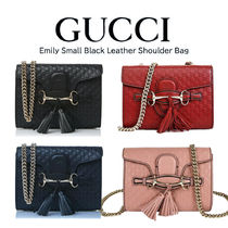 GUCCI Casual Style Vanity Bags Plain Party Style Office Style