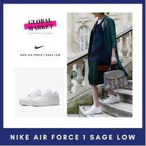 Nike AIR FORCE 1 Casual Style Unisex Street Style Plain Logo Low-Top Sneakers