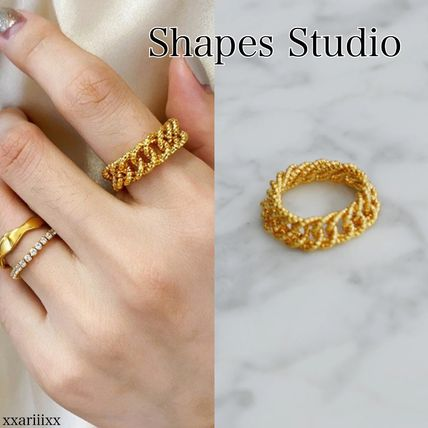 Casual Style Street Style Chain Brass Elegant Style Rings