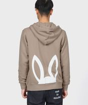 Psycho Bunny Hoodies Unisex Street Style Long Sleeves Plain Other Animal Patterns 12