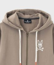 Psycho Bunny Hoodies Unisex Street Style Long Sleeves Plain Other Animal Patterns 15