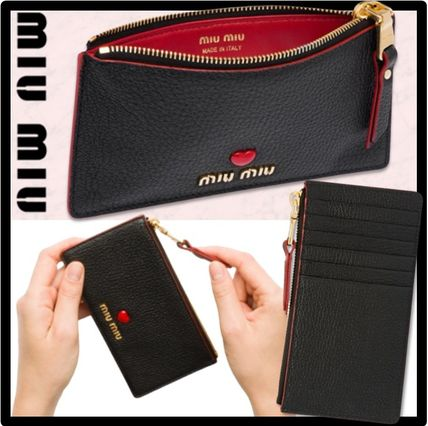 MiuMiu Leather Card Holders