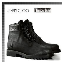 Jimmy Choo Plain Logo Boots
