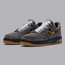 Nike AIR FORCE 1 Other Plaid Patterns Camouflage Suede Blended Fabrics