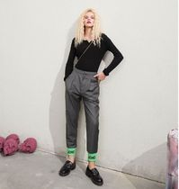 ELF SACK Printed Pants Casual Style Blended Fabrics Street Style