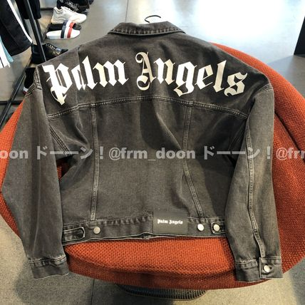 Short Denim Plain Denim Jackets Oversized Logo Jackets