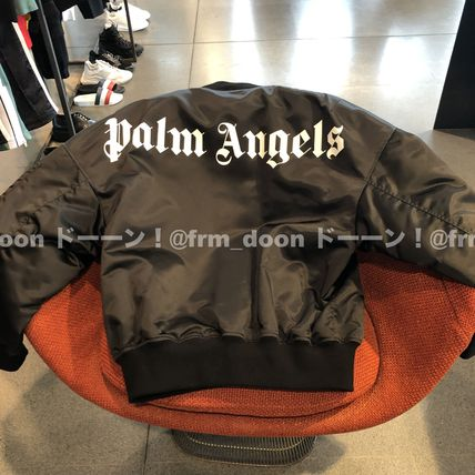 Short Plain MA-1 Oversized Logo Bomber Jackets