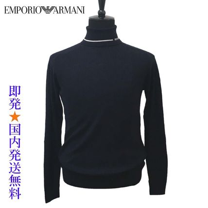 EMPORIO ARMANI Sweaters Wool Long Sleeves Plain Sweaters