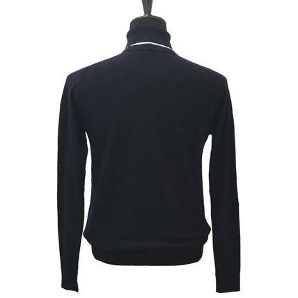 EMPORIO ARMANI Sweaters Wool Long Sleeves Plain Sweaters 3