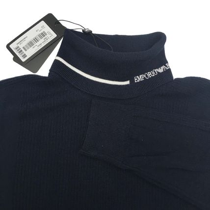 EMPORIO ARMANI Sweaters Wool Long Sleeves Plain Sweaters 5