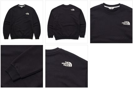 THE NORTH FACE Sweatshirts Unisex Street Style U-Neck Long Sleeves Plain Cotton 8