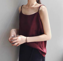 Casual Style Plain Tanks & Camisoles