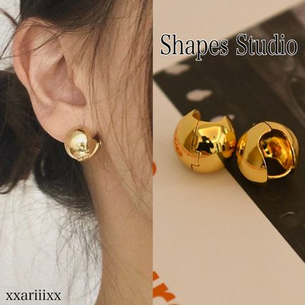 Costume Jewelry Casual Style 18K Gold Earrings