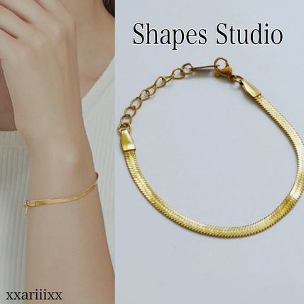 Casual Style Street Style Party Style 18K Gold Office Style