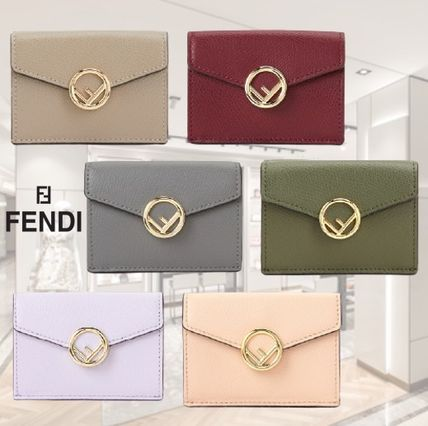 FENDI F IS FENDI Logo Leather Folding Wallets