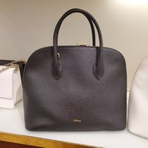 FURLA Casual Style A4 2WAY Plain Office Style Elegant Style