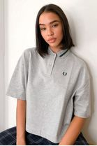 FRED PERRY Street Style Plain Cotton Short Sleeves Oversized Logo Polos