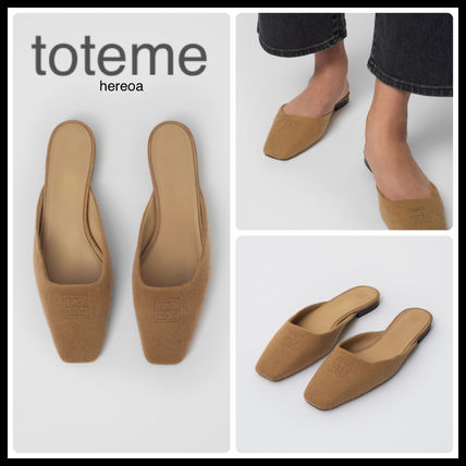 Square Toe Casual Style Plain Leather Elegant Style Mules
