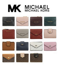 Michael Kors Monogram Unisex Plain Leather PVC Clothing Khaki