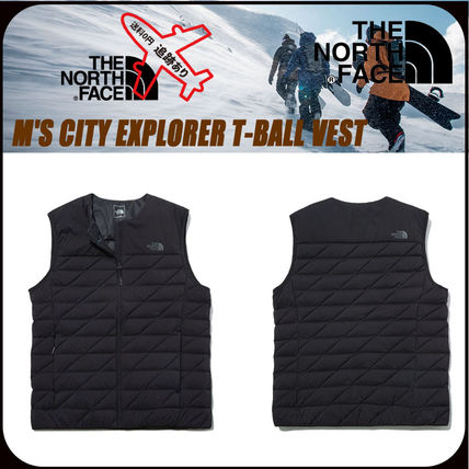 THE NORTH FACE Street Style Oversized Logo Outdoor Vests & Gillets