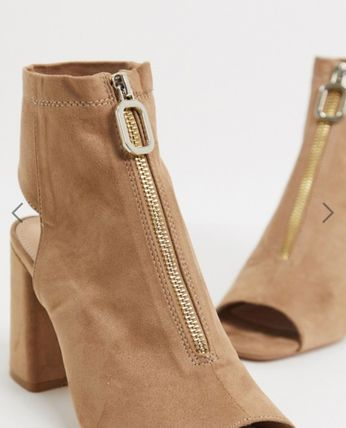 Casual Style Suede Plain Office Style Boots Boots