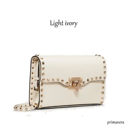 VALENTINO Crossbody Formal Style  Casual Style Calfskin Studded 2WAY