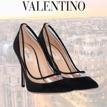 VALENTINO Square Toe Plain Pin Heels Stiletto Pumps & Mules