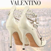 VALENTINO Casual Style Leather High Heel Pumps & Mules