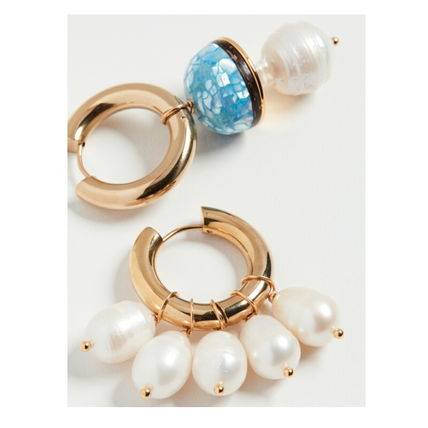 TIMELESS PEARLY Earrings Casual Style Party Style Brass Office Style Elegant Style 2
