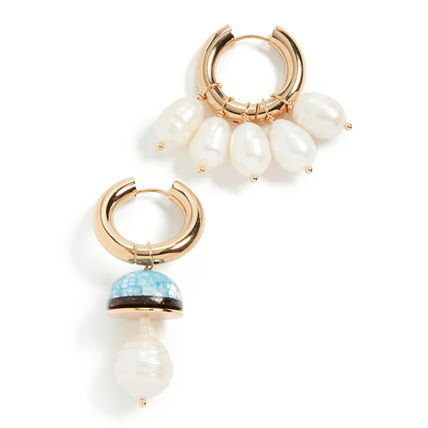 TIMELESS PEARLY Earrings Casual Style Party Style Brass Office Style Elegant Style 3