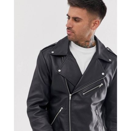 ASOS Street Style Plain Leather Biker Jackets
