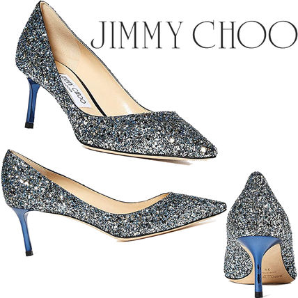Jimmy Choo Casual Style Pin Heels Party Style Elegant Style Glitter