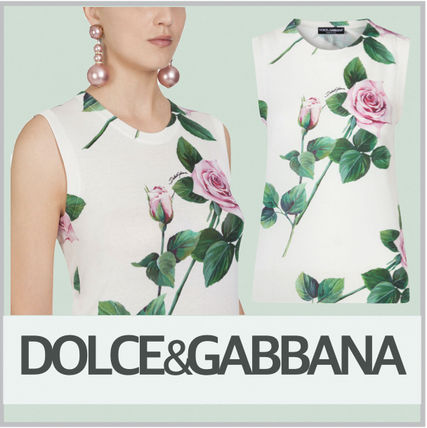 Dolce & Gabbana Flower Patterns Tropical Patterns Casual Style Cashmere Silk