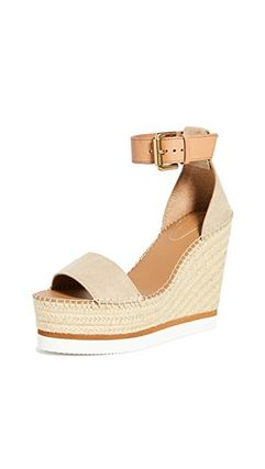 See by Chloe Open Toe Platform Casual Style Leather Elegant Style
