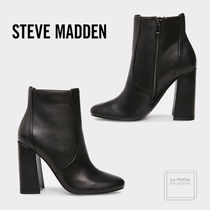 Steve Madden Round Toe Plain Leather Party Style Office Style