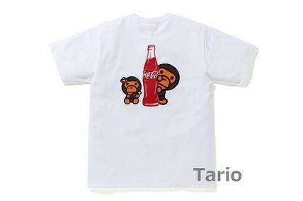 A BATHING APE Street Style Collaboration Cotton Short Sleeves T-Shirts