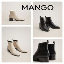 MANGO Casual Style Ankle & Booties Boots