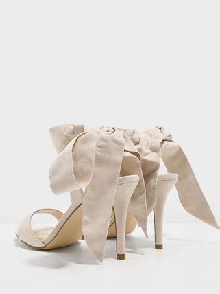 Charles&Keith Open Toe Plain Pin Heels Party Style Elegant Style