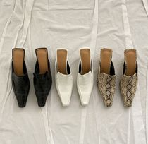 Square Toe Faux Fur Pin Heels Party Style Office Style