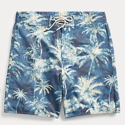 Printed Pants Tropical Patterns Street Style Cotton