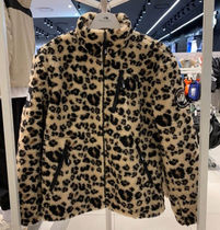 THE NORTH FACE RIMO Leopard Patterns Unisex Street Style Shearling Logo