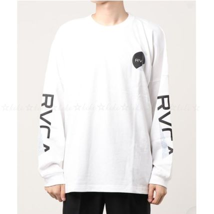 RVCA Long Sleeve Crew Neck Unisex Street Style Long Sleeves Cotton 2