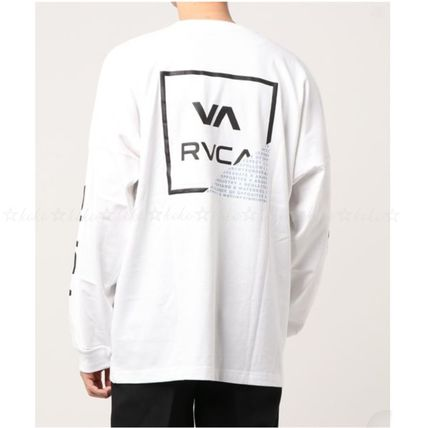 RVCA Long Sleeve Crew Neck Unisex Street Style Long Sleeves Cotton 4