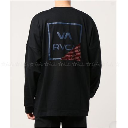 RVCA Long Sleeve Crew Neck Unisex Street Style Long Sleeves Cotton 6