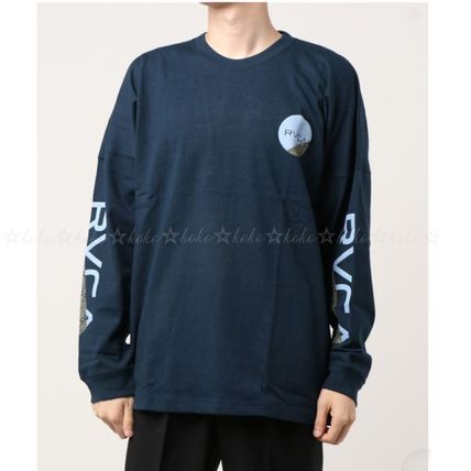 RVCA Long Sleeve Crew Neck Unisex Street Style Long Sleeves Cotton 7