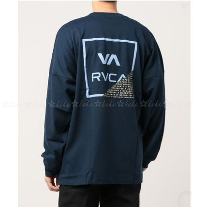 RVCA Long Sleeve Crew Neck Unisex Street Style Long Sleeves Cotton 8