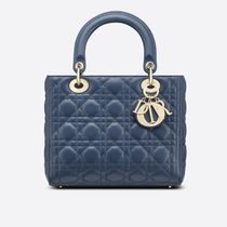 Christian Dior LADY DIOR Casual Style 2WAY Leather Office Style Elegant Style