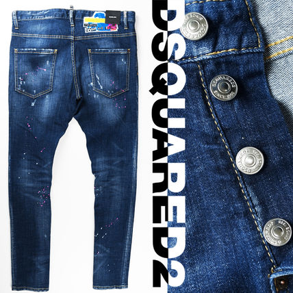 D SQUARED2 Skinny Tapered Pants Street Style Skinny Jeans 3