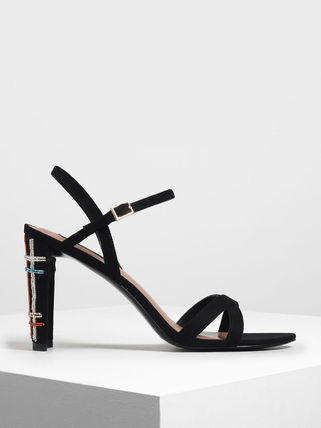 Charles&Keith Open Toe Casual Style Plain Office Style Logo
